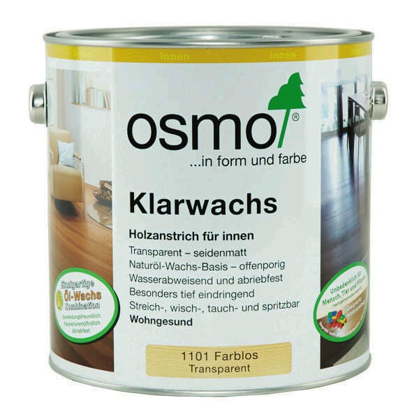 OSMO WOOD WAX FINISH CLEAR EXTRA THIN 1101