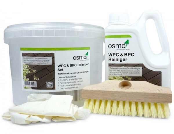 Osmo WPC & BPC Reiniger Set, Grundreiniger für Terrassen aus WPC & BPC