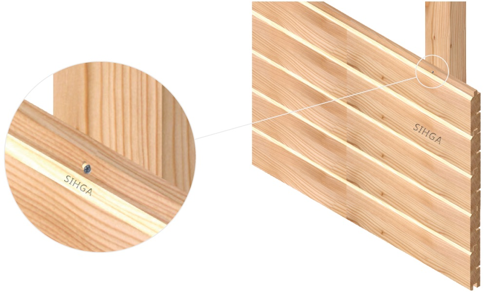 SIHGA F-bohrfix/® ZB Vis Fa/çade en bois